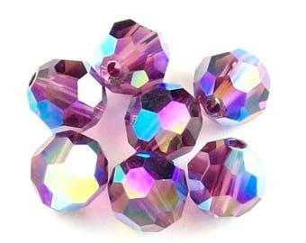 Amethyst AB2X - 6mm, 8mm - Swarovski Crystal Rounds - 5000