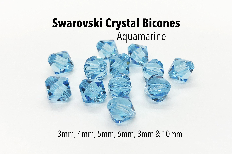 6 5mm Swarovski 5301 Bicones Blue Zircon Please Read Item Description