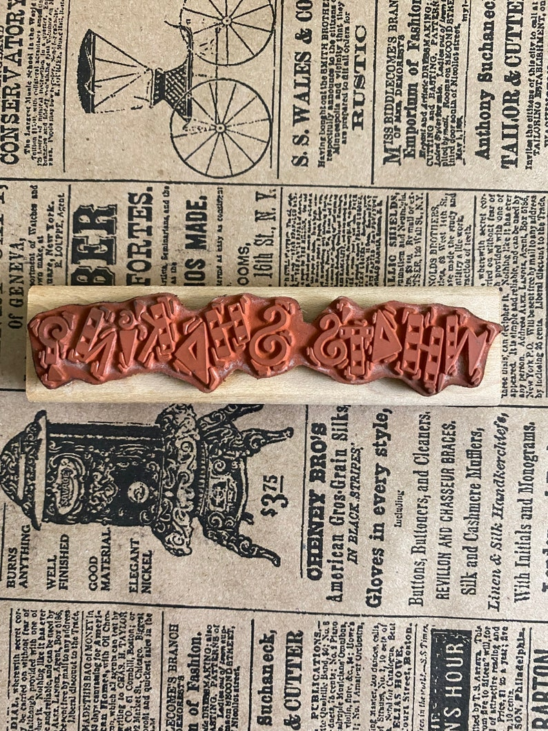 Funny Unusual Card Making Supplies Paper Crafting What/'s Shakin? Vintage Rubber Stamp