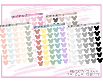 020 MNML STIX- Magical Mouse | Clear Matte Planner Stickers