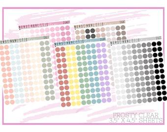 016 MNML STIX- Mini Dots | Clear Matte Planner Stickers