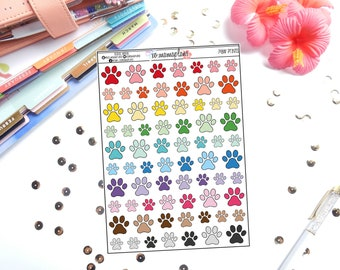 Paw Print Planner Stickers | Great for any planner