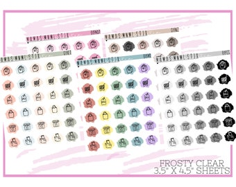019 MNML STIX- Shopping Icon | Clear Matte Planner Stickers