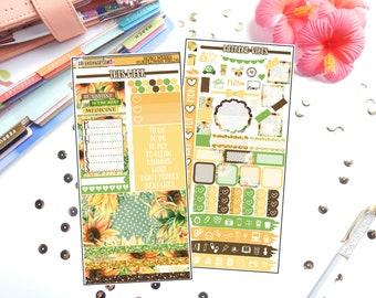 Sunflower Fields Hobonichi Weeks | Planner Sticker Kit