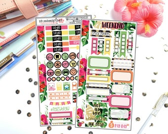 Tropical Oasis Personal Sized Kit | Planner Stickers