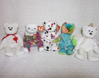 6c7557f1fd9 Collectible Bear Ty Beanie Babies - Halo