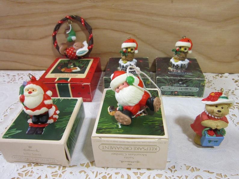 Collection Of Six Hallmark Keepsake Ornaments Hallmark Handcrafted Ornaments Hallmark Christmas Ornaments Christmas Tree Ornaments