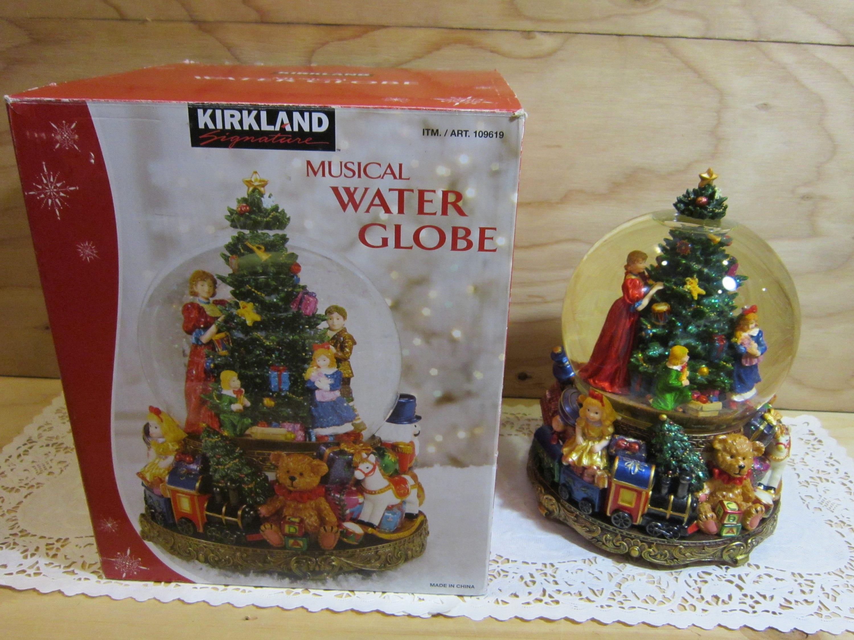 Large Kirkland Christmas Tree Musical Water Globe Wind-up | Etsy