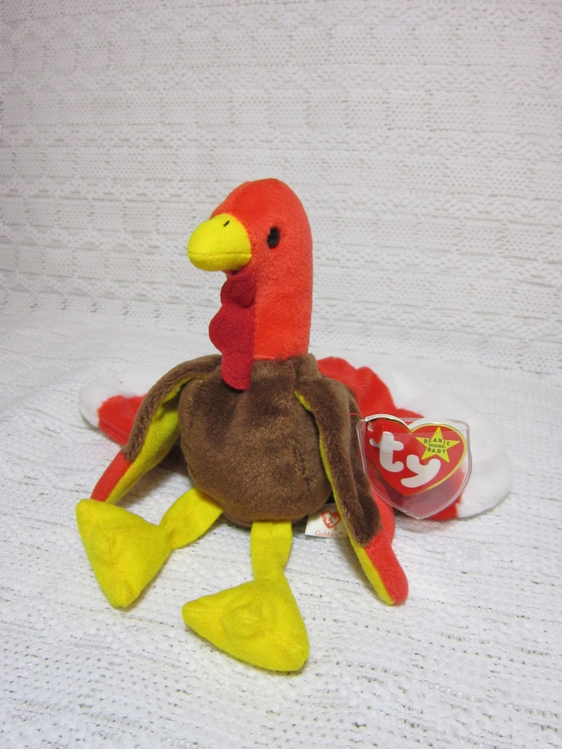 982cb745e34 Collectible Ty Beanie Baby Gobbles The Turkey Retired Turkey