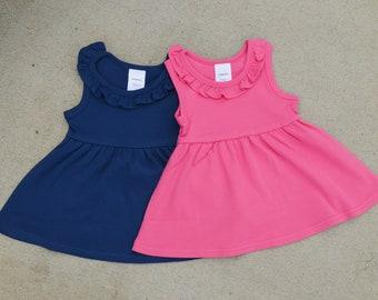 2bb20cbdae72e Girl's Sundress, Knit Sundress, Monogrammed Sundress, Ruffled Sundress, Girls  Boutique Sundress