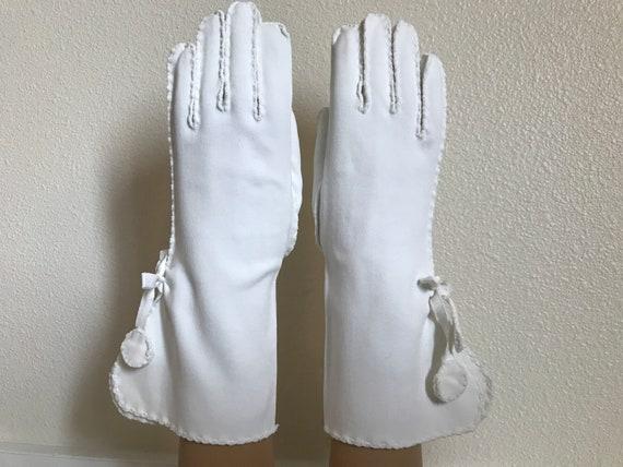 Wear the Gauntlet! Vintage White Cotton Gauntlet … - image 1