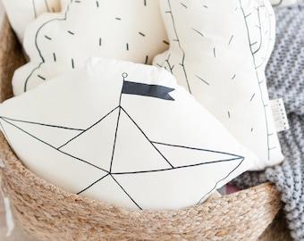 Paper boat Standard, 33 cm, eco cotton, silkscreen eco-friendly ink