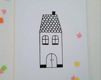 House card + envelope, confetti, silkscreen
