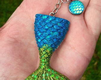 Mermaid key chain larger size