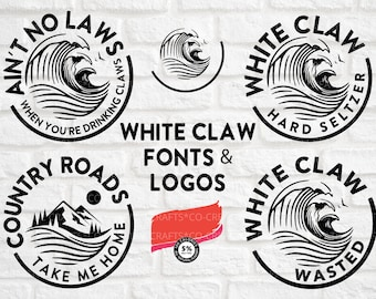 White Claw Svg File Etsy