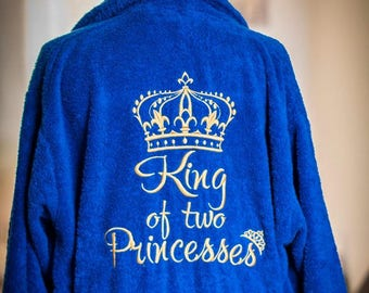 Personalised dressing gown, bath robe, embroidered name, birthday gift, wedding gift, christmas gift
