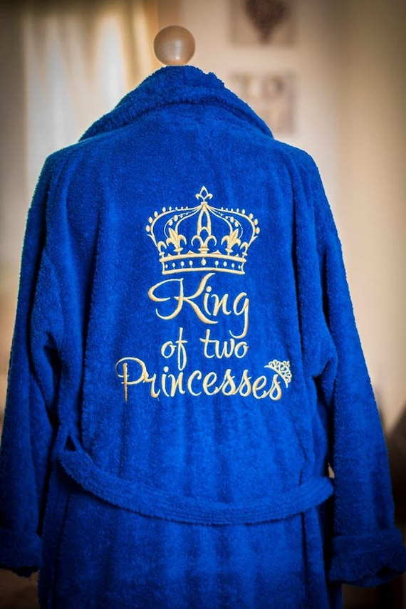 fe4bb76d24 Personalised dressing gown bath robe embroidered name