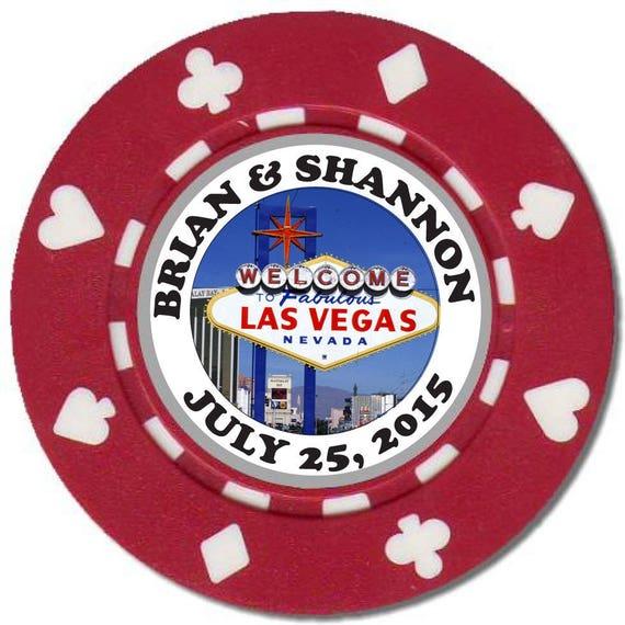 25 Magnetic Custom Unique Wedding Poker Chip Favors Etsy