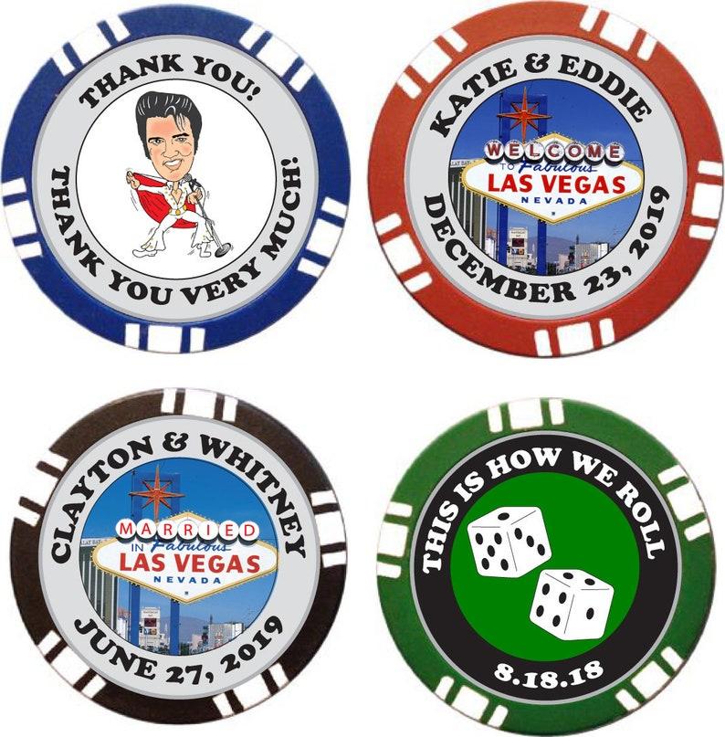 25 Custom Unique Las Vegas Style Wedding Poker Chips Etsy