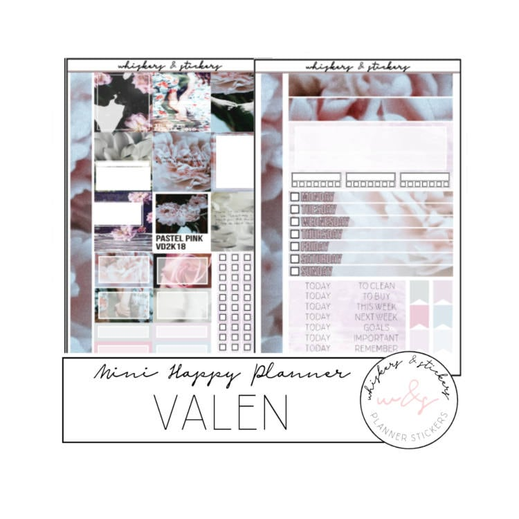 Mini Happy Planner Valen Valentines Day Weekly Sticker Etsy
