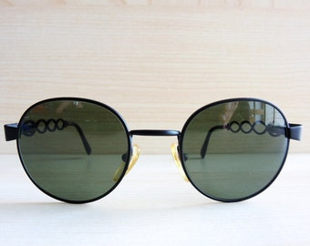 02694f63f80 MOSCHINO MM214 by PERSOL vintage sunglasses round black 90s
