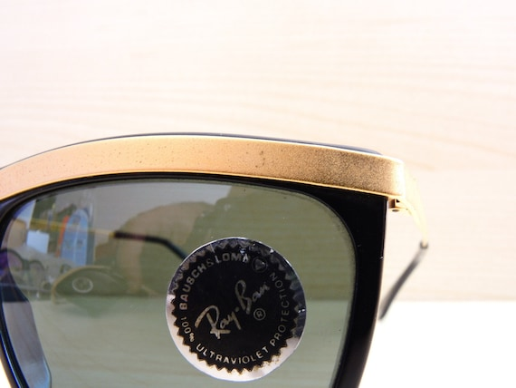 3a5debc624 vintage RAY BAN W0741 olympian III sunglasses deluxe gold