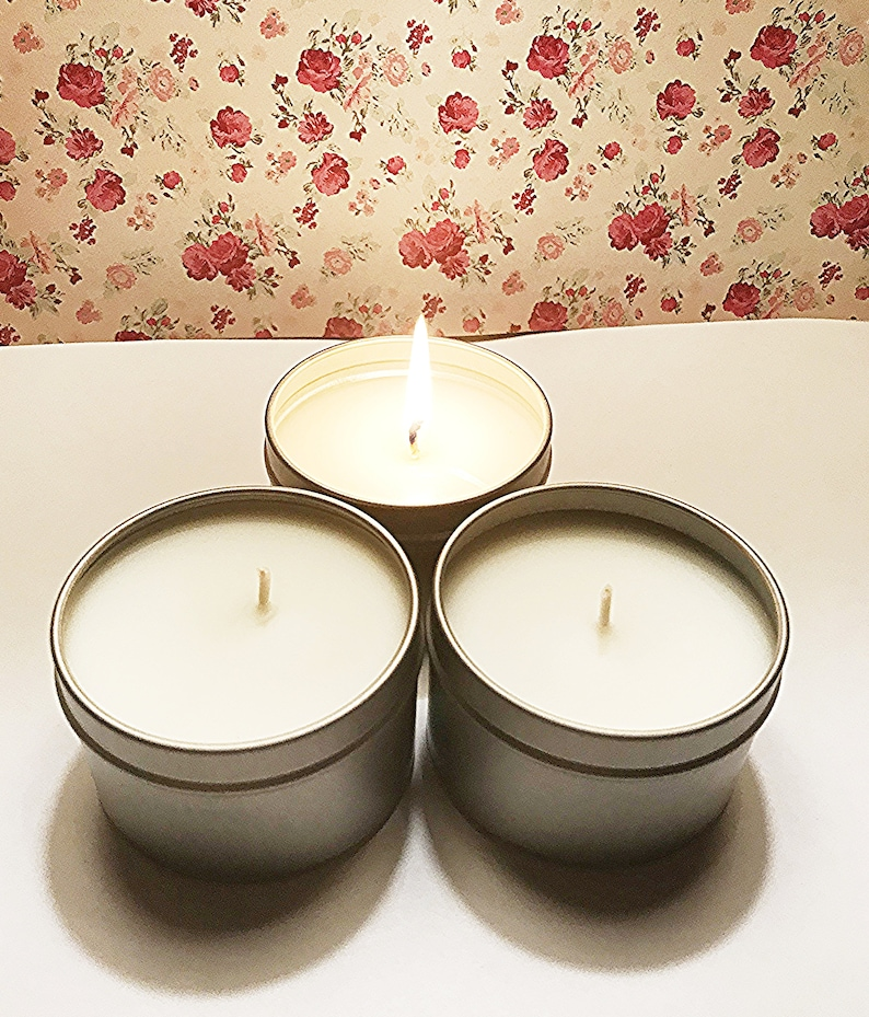 Gift Idea Hand Poured Candles Scented Candls Wax Candles Tin Candle Autumn Leaves 4 oz Soy Blend Candle Tin Autumn Gifts