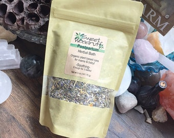 Organic Postpartum Herbal Bath, Postpartum Herbal Bath, Herbal Bath Soak, Bath Tea, Postpartum Bath, Bath Salts, Herbal Bath Tea, New Mom