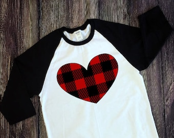 Valentine's Day Plaid Heart Iron On Decal  Valentine's Day  Plaid Heart  Diy Iron On  T Shirt  NEXT DAY SHIPPING!!