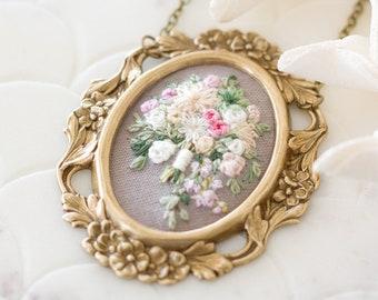 Bridal Bouquet Portrait. Wedding Keepsake. Custom Wedding Memento. Personalized Bride. Flower Bouquet Jewelry. Wedding Gift Anniversary Gift