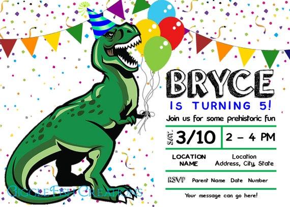 T Rex Birthday Party Ideas