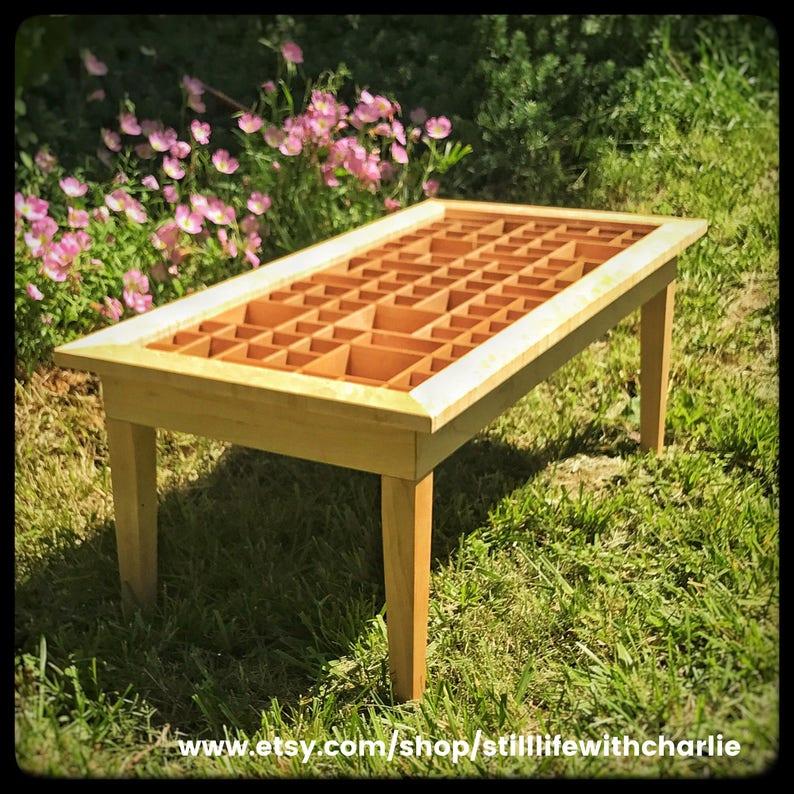 Handmade Maple Shadow Box Curio Cabinet Coffee Table 20 X40 X16