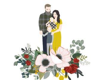 Custom Made Family Portrait Illustration