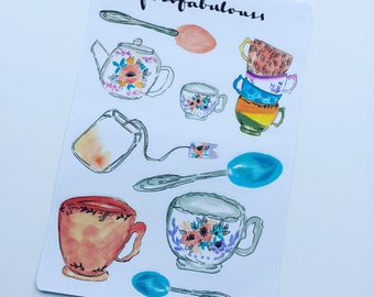 Afternoon Tea Planner Stickers