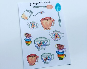 Afternoon Tea MINI Deco Planner Stickers