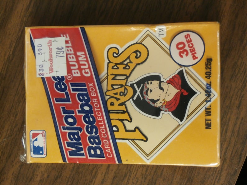 Mlb Bubble Gum Card Collector Box Pittsburgh Pirates Hard To Find Mib