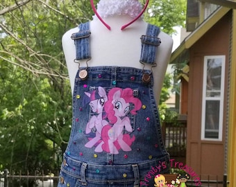 8769b06cd0 Denim Birthday Outfit Overall Tutu Diamonds   Pearls Outfit