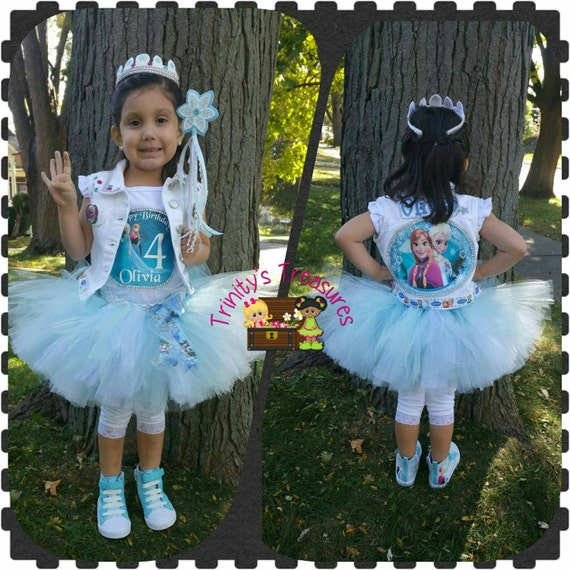 Frozen Tutu Set Frozen Birthday Outfit Frozen Party Frozen