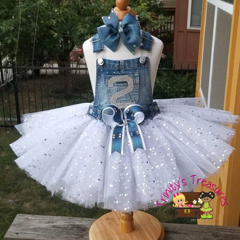 a6b82dc2e2 Denim Birthday Outfit Overall Tutu Denim   Diamonds Outfit