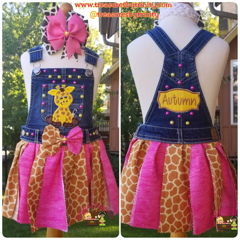 d073de4ab2 Giraffe Outfit GiraffeTutu Fabric Tutu Denim Jumper