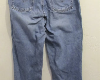 a90ed6c626b Women's Vintage 90's,GRUNGED Blue RELAXED Fit,TAPERED Leg Usa Made Jeans By  LEVi'S 550.13/14M