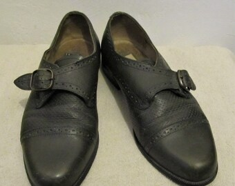 3429c043fb3 Men's Vintage 80's,MOD Green Colored EURO Buckle Shoes.43(10)