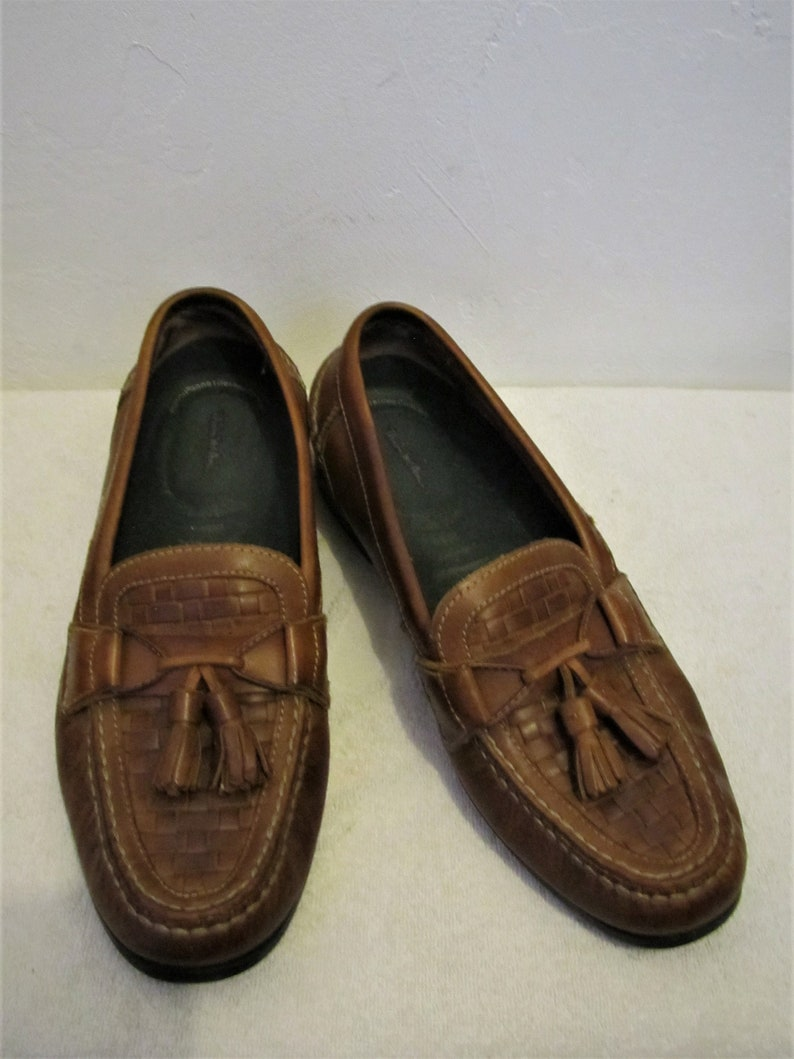 dc8316c8e61 Men s Vintage 90 sBrown Colored LOAFERS With TASSELS