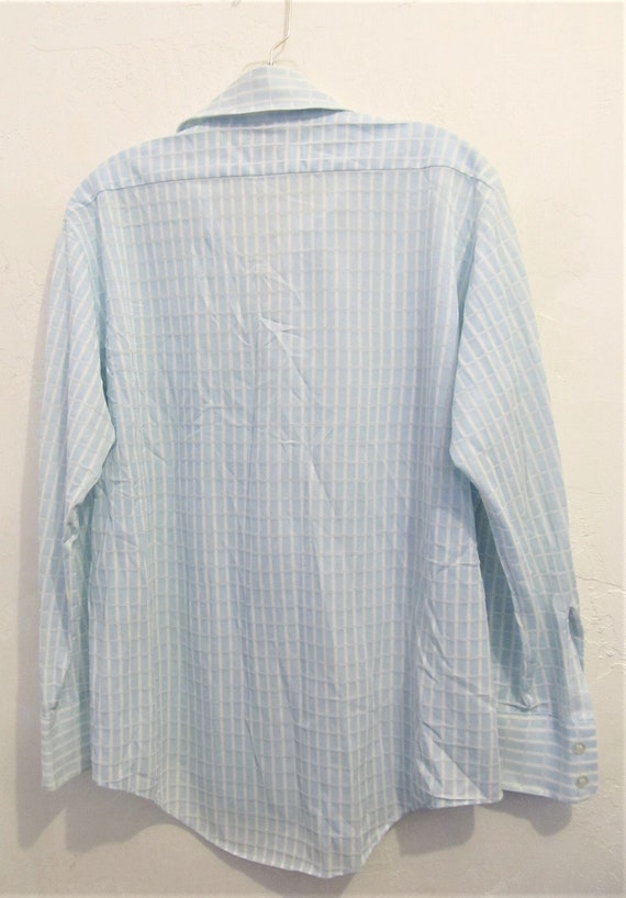 A Men's Vintage 70's,Long Sleeve,Baby Blue Double… - image 2