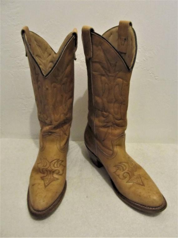 7 5B Boots Vintage Golden COWGIRL Brown Women's 70's Type Campus g8wqZqxz4