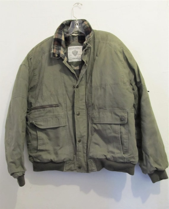A Mens Rugged Vintage 90squilted Olive Colored Etsy