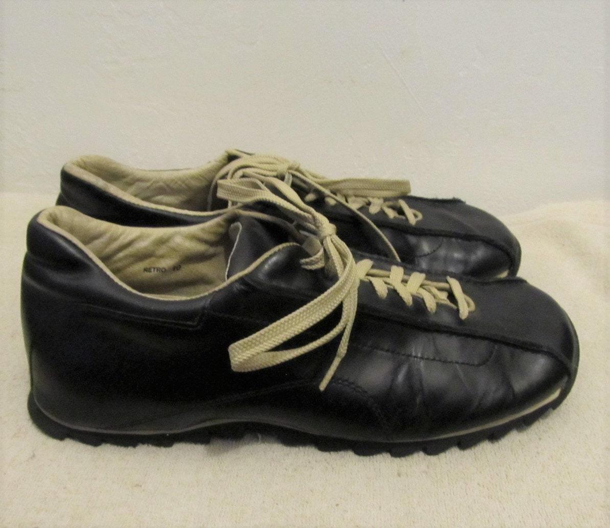 5dad2c4442a72 Men's M0D Vintage Black Square Front,Retro Shoes By STEVE MADDEN.10