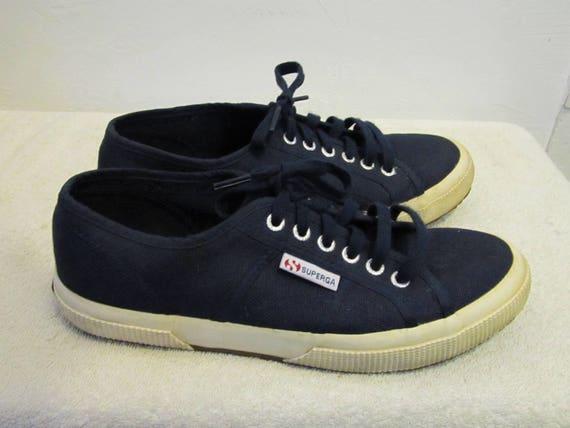 EUR0 Navy Canvas SUPERGA 40 Vintage URBAN era Blue Women's 90's By 9 Sneakers cBEqYCwTH