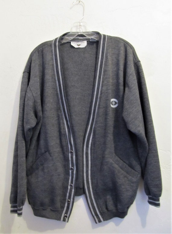 Reduced@@A Vintage 80's,PREPPY Gray CARDIE Type Sw