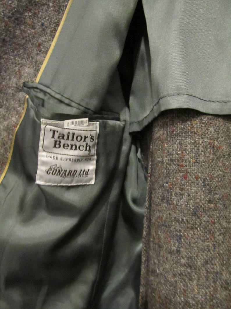 40-42R A Men/'s Vintage 80/'s,Gray 2 Button Front W00L TWEED Sportcoat By TAILOR/'S BENCH.M